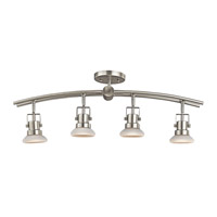 Kichler Lighting Structures 4 Light Rail Light in Brushed Nickel 7755NI