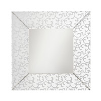 Scroll 36 X 36 inch Clear Mirror Home Decor, Square