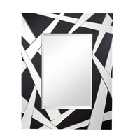 Cutting Edge 46 X 36 inch Black Mirror Home Decor, Rectangular
