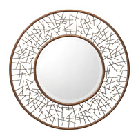 Twigs 39 X 39 inch Painted Metal Mirror Home Decor, Circular
