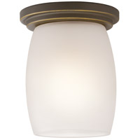 Kichler 8043OZS Eileen 1 Light 5 inch Olde Bronze Flush Mount Ceiling Light in Standard Satin Etched Cased Opal