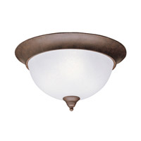 Dover 3 Light 15 inch Tannery Bronze Flush Mount Ceiling Light