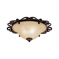 Kichler 8090CZ Wilton 2 Light 20 inch Carre Bronze Flush Mount Ceiling Light photo thumbnail