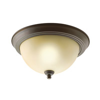 Kichler 8108OZ Signature 2 Light 11 inch Olde Bronze Flush Mount Ceiling Light photo thumbnail