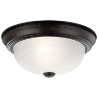 Signature 2 Light 11 inch Tannery Bronze Flush Mount Ceiling Light