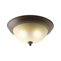 Kichler 8109OZ Signature 2 Light 13 inch Olde Bronze Flush Mount Ceiling Light