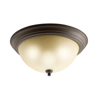 Kichler 8110OZ Signature 3 Light 15 inch Olde Bronze Flush Mount Ceiling Light