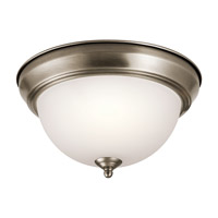 Kichler 8111AP Signature 2 Light 11 inch Antique Pewter Flush Mount Ceiling Light