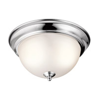 Kichler 8111CH Signature 2 Light 11 inch Chrome Flush Mount Ceiling Light