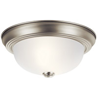 Kichler 8111NI Signature 2 Light 11 inch Brushed Nickel Flush Mount Ceiling Light