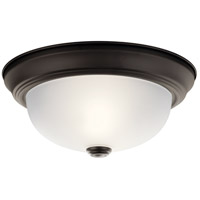Kichler Lighting Signature 2 Light Flush Mount in Olde Bronze 8111OZ