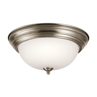Kichler 8112AP Signature 2 Light 13 inch Antique Pewter Flush Mount Ceiling Light in Standard