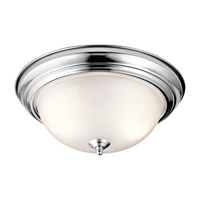 Kichler 8112CH Signature 2 Light 13 inch Chrome Flush Mount Ceiling Light