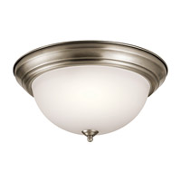 Kichler 8116AP Signature 3 Light 15 inch Antique Pewter Flush Mount Ceiling Light in Standard