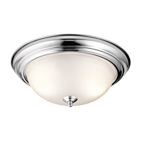 Kichler 8116CH Signature 3 Light 15 inch Chrome Flush Mount Ceiling Light in Standard