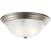 Kichler 8116NI Signature 3 Light 15 inch Brushed Nickel Flush Mount Ceiling Light