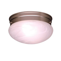 Ceiling Space 1 Light 8 inch Brushed Nickel Flush Mount Ceiling Light