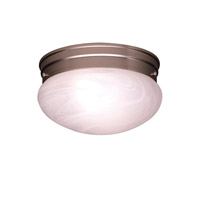 Kichler 8209NI Ceiling Space 2 Light 9 inch Brushed Nickel Flush Mount Ceiling Light