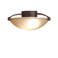 Signature 2 Light 15 inch Tannery Bronze Semi-Flush Ceiling Light