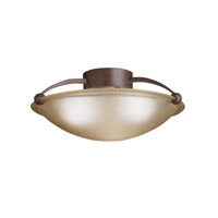 Kichler Lighting Signature 3 Light Semi-Flush in Tannery Bronze 8406TZ