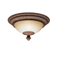 Kichler Lighting Larissa 2 Light Flush Mount in Tannery Bronze w/ Gold Accent 8413TZG