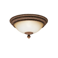 Kichler Lighting Larissa 3 Light Flush Mount in Tannery Bronze w/ Gold Accent 8415TZG