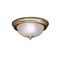 Kichler Lighting Signature 2 Light Flush Mount in Antique Brass 8653AB photo thumbnail