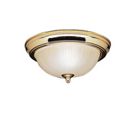 Kichler Lighting Signature 2 Light Flush Mount in Polished Brass 8653PB photo thumbnail