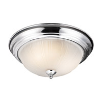 Signature 2 Light 13 inch Chrome Flush Mount Ceiling Light