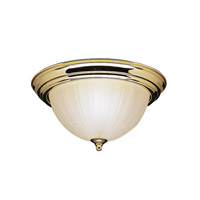 Kichler Lighting Signature 2 Light Flush Mount in Polished Brass 8654PB photo thumbnail