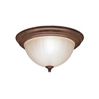 Signature 2 Light 13 inch Tannery Bronze Flush Mount Ceiling Light