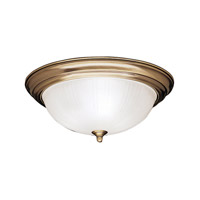 Kichler Lighting Signature 3 Light Flush Mount in Antique Brass 8655AB photo thumbnail