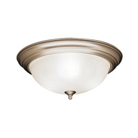 Kichler 8655NI Signature 3 Light 15 inch Brushed Nickel Flush Mount Ceiling Light