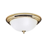 Kichler Lighting Signature 3 Light Flush Mount in Polished Brass 8655PB photo thumbnail