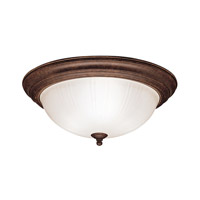 Kichler 8655TZ Signature 3 Light 15 inch Tannery Bronze Flush Mount Ceiling Light