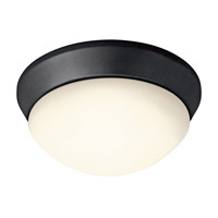 Kichler Lighting Signature 1 Light Flush Mount in Black 8880BK photo thumbnail