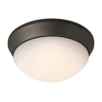 Kichler Lighting Signature 1 Light Fluorescent Flush Mount in Olde Bronze 8880OZFL photo thumbnail