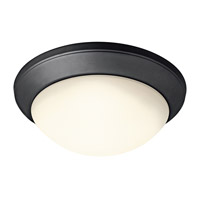Kichler Lighting Signature 1 Light Flush Mount in Black (Painted) 8881BK