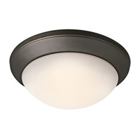 Kichler 8881OZ Ceiling Space 1 Light 14 inch Olde Bronze Flush Mount Ceiling Light in Standard