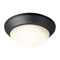 Kichler Lighting Signature 2 Light Flush Mount in Black (Painted) 8882BK