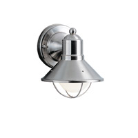 Kichler 9021NI Seaside 1 Light 7 inch Brushed Nickel Outdoor Wall Lantern