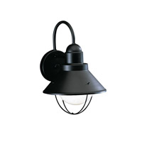 Seaside 1 Light 12 inch Black Outdoor Wall Lantern