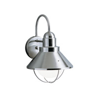 Kichler Lighting Seaside 1 Light Outdoor Wall Lantern in Brushed Nickel 9022NI