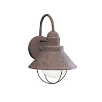 Kichler 9022OB Seaside 1 Light 12 inch Olde Brick Outdoor Wall Lantern