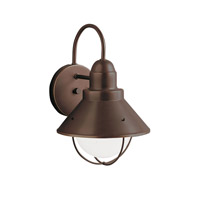 Kichler 9022OZ Seaside 1 Light 12 inch Olde Bronze Outdoor Wall Lantern