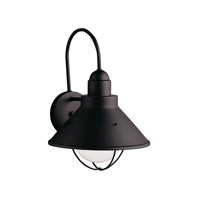 Kichler Lighting Seaside 1 Light Outdoor Wall Lantern in Black (Painted) 9023BK