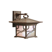 Kichler Lighting Morris 1 Light Outdoor Wall Lantern in Distressed Copper 9026DCO