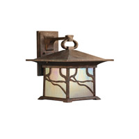 Kichler 9027DCO Morris 1 Light 13 inch Distressed Copper Outdoor Wall Lantern