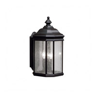 Kichler 9030BK Kirkwood 3 Light 21 inch Black Outdoor Wall Sconce, Large photo thumbnail