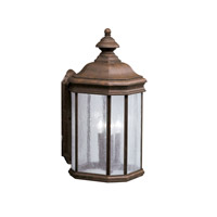 Kichler Lighting Kirkwood 3 Light Outdoor Wall Lantern in Tannery Bronze 9030TZ